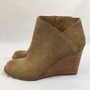 Lucky Brand Shoes - Lucky Brand Suede Wedge  Booties